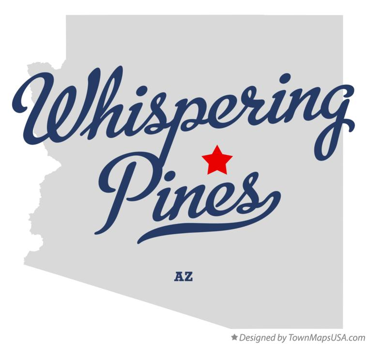 Map of Whispering Pines Arizona AZ