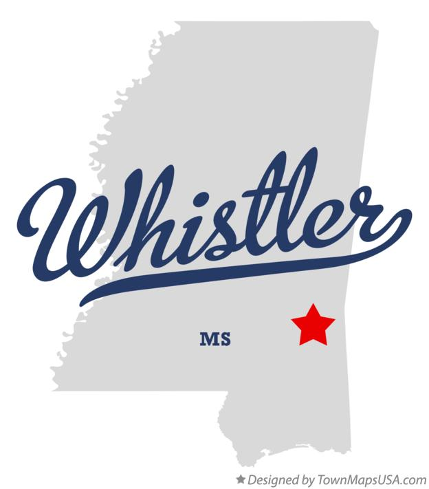 Map of Whistler Mississippi MS