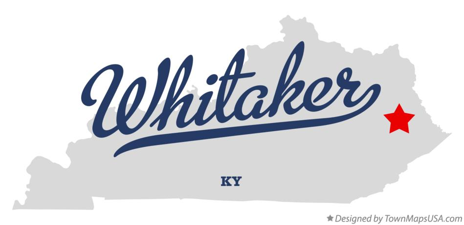 Map of Whitaker Kentucky KY