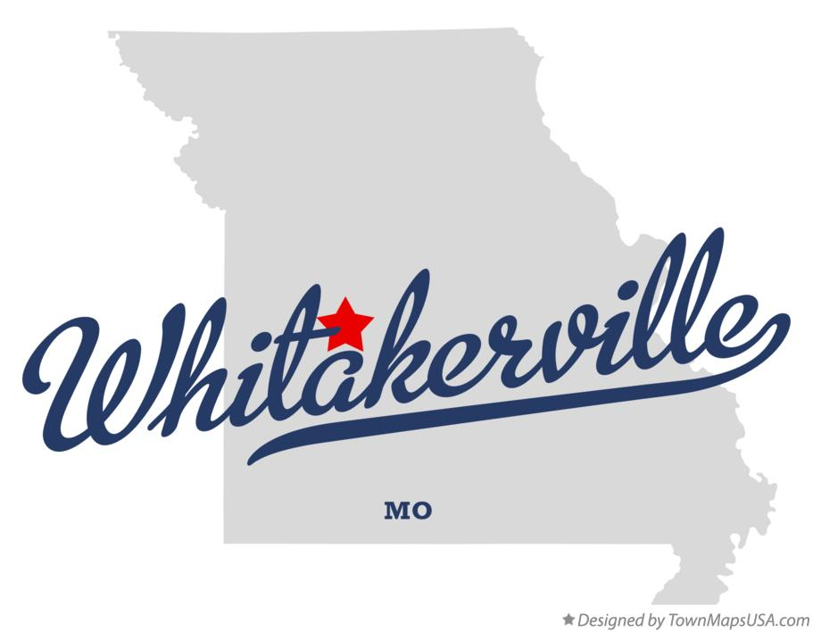 Map of Whitakerville Missouri MO