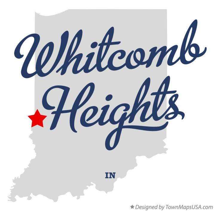 Map of Whitcomb Heights Indiana IN