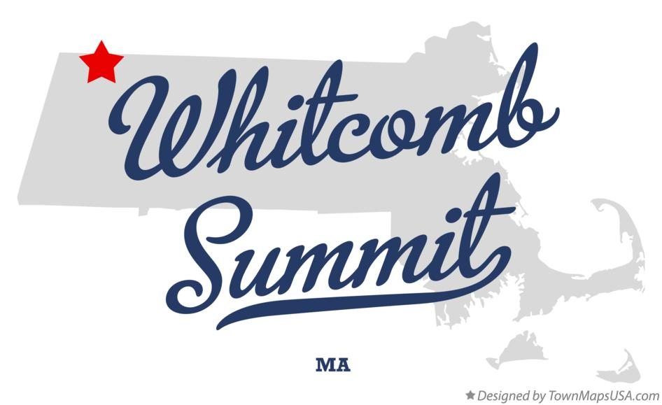 Map of Whitcomb Summit Massachusetts MA