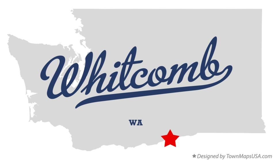 Map of Whitcomb Washington WA