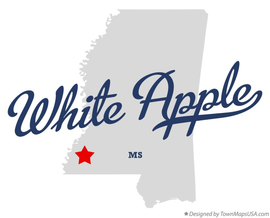 Map of White Apple Mississippi MS