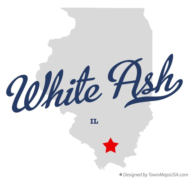 Map of White Ash Illinois IL
