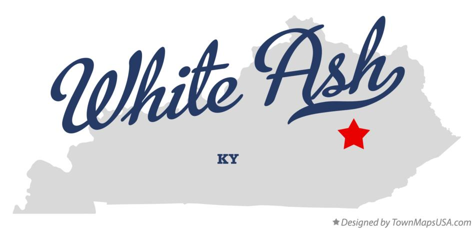 Map of White Ash Kentucky KY