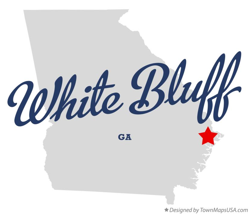 Map of White Bluff Georgia GA