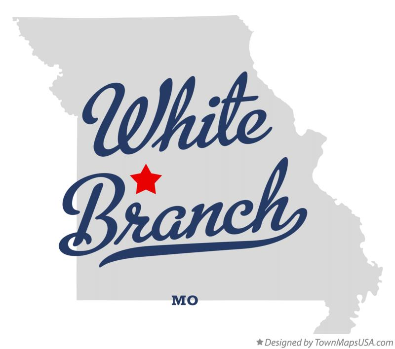 Map of White Branch Missouri MO