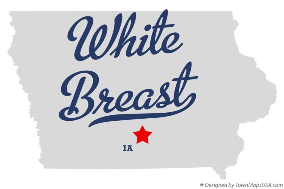 Map of White Breast Iowa IA