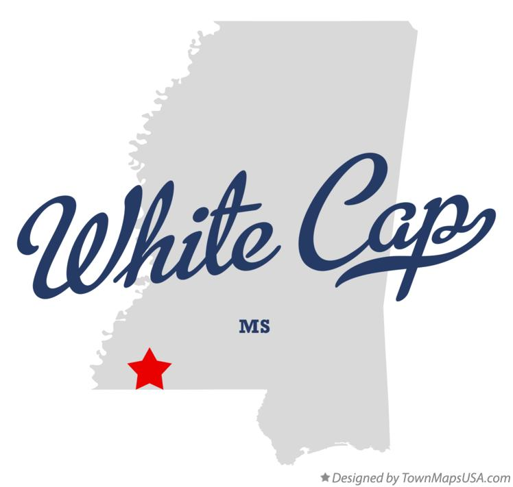 Map of White Cap Mississippi MS
