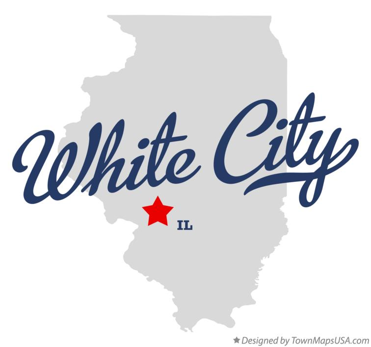 Map of White City Illinois IL