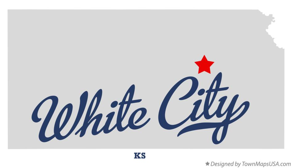 Map of White City Kansas KS