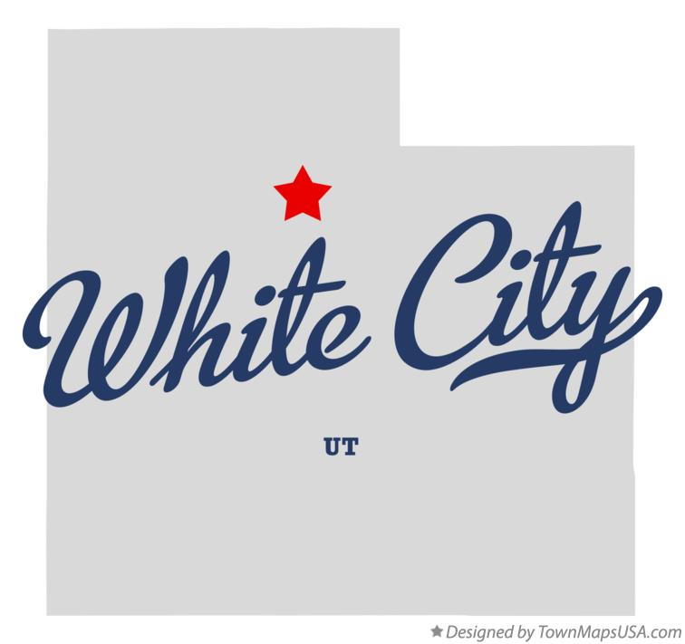 Map of White City Utah UT