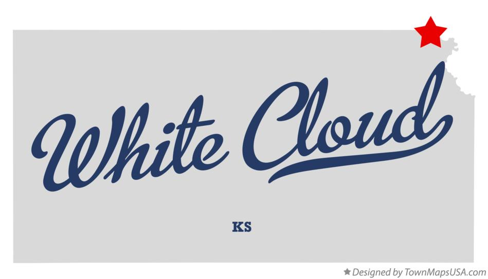 Map of White Cloud Kansas KS