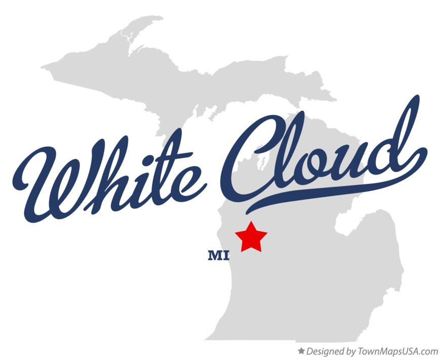 Map of White Cloud Michigan MI
