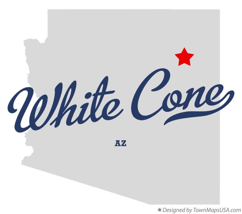 Map of White Cone Arizona AZ
