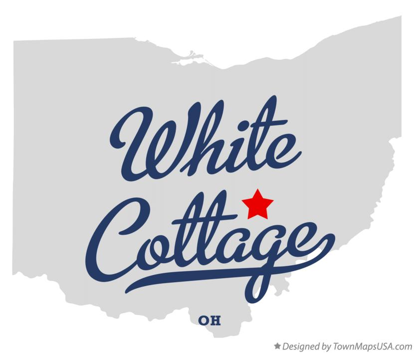 Map of White Cottage Ohio OH