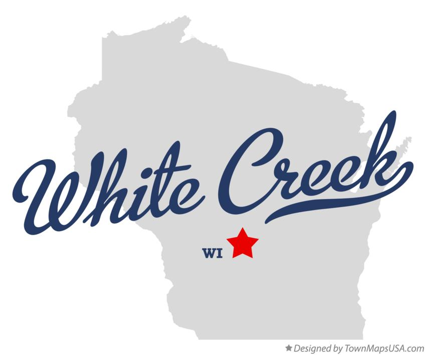 Map of White Creek Wisconsin WI