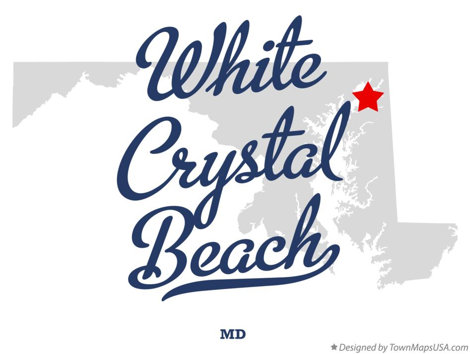Map of White Crystal Beach Maryland MD