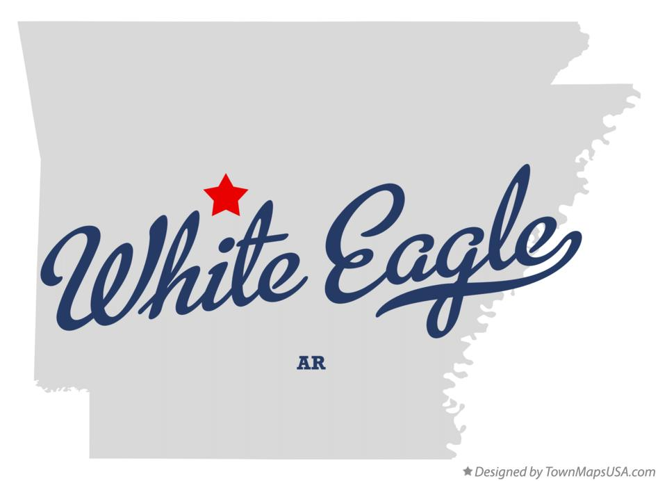 Map of White Eagle Arkansas AR