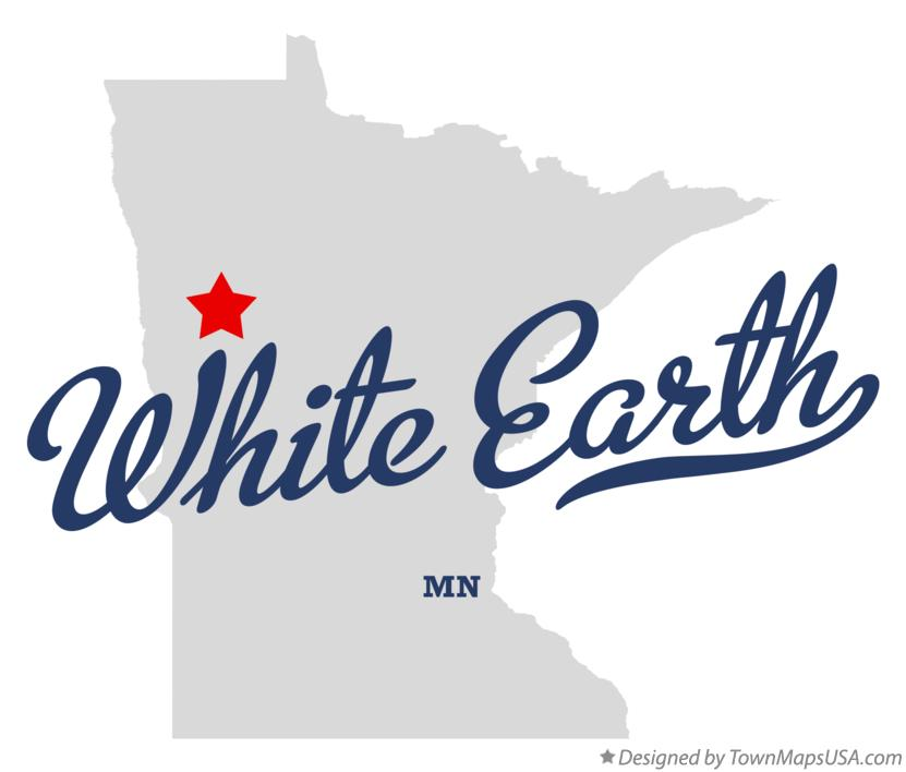 Map of White Earth Minnesota MN
