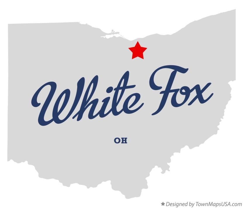 Map of White Fox Ohio OH