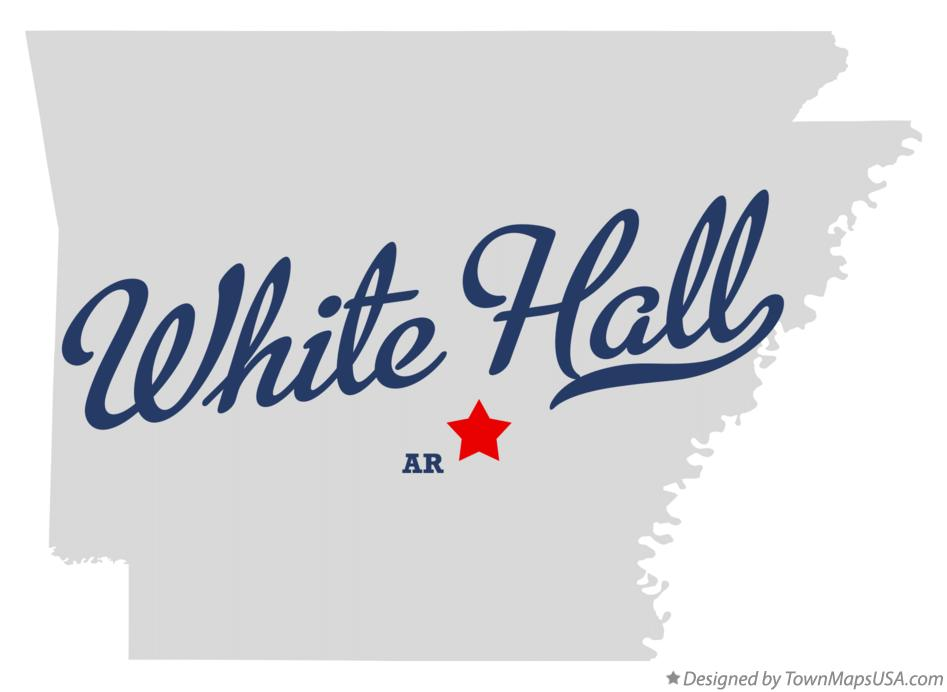 Map of White Hall Arkansas AR