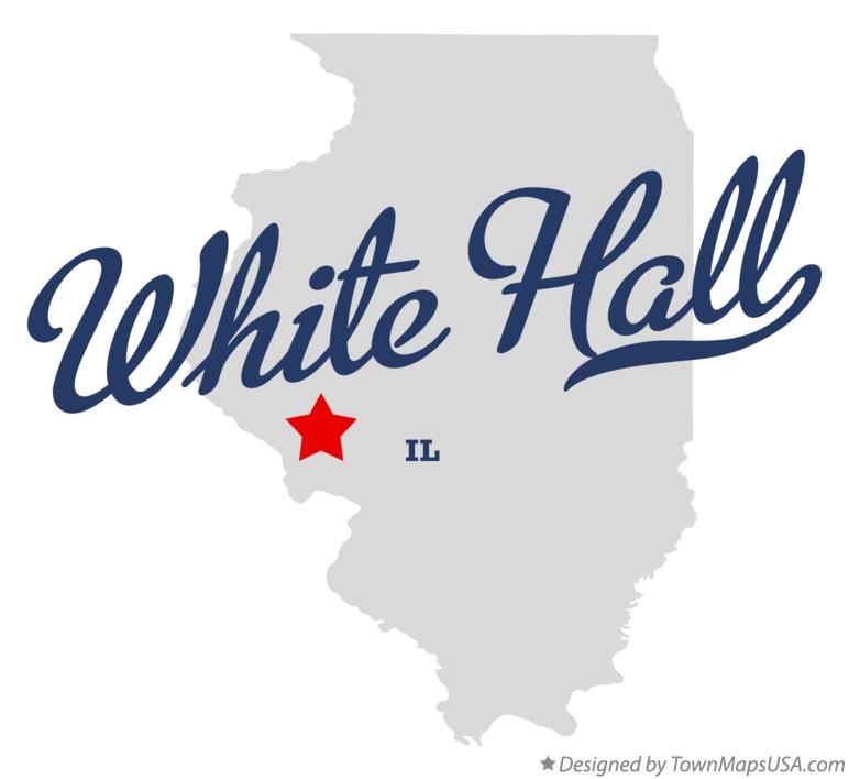 Map of White Hall Illinois IL