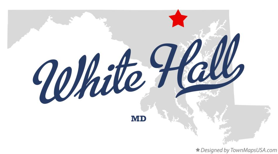 Map of White Hall Maryland MD