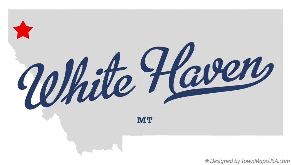 Map of White Haven Montana MT