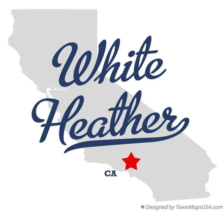 Map of White Heather California CA