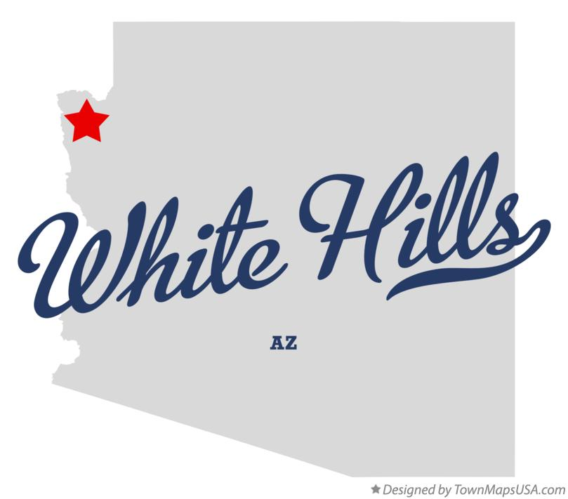 Map of White Hills Arizona AZ