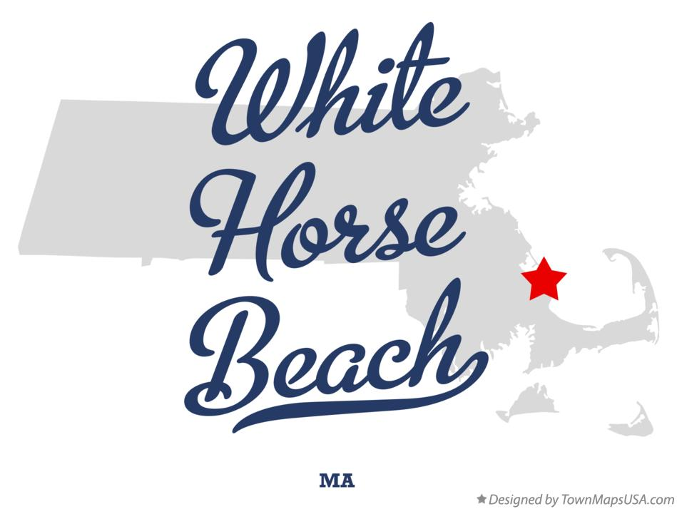 Map of White Horse Beach Massachusetts MA