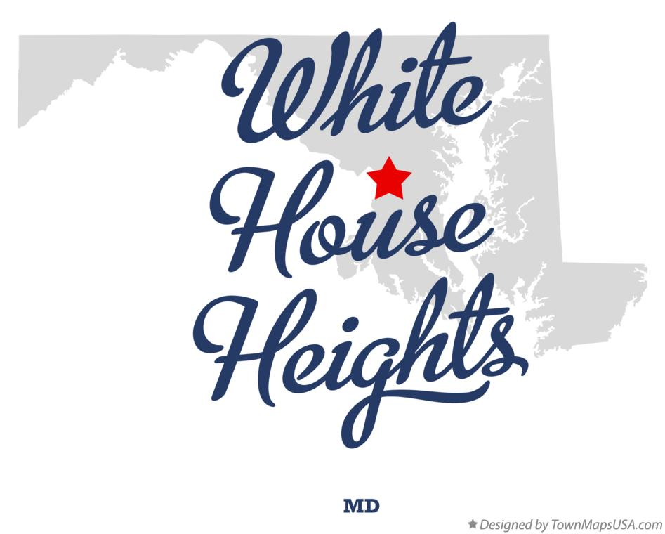 Map of White House Heights Maryland MD