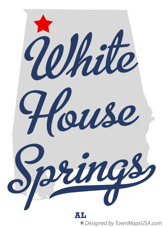 Map of White House Springs Alabama AL
