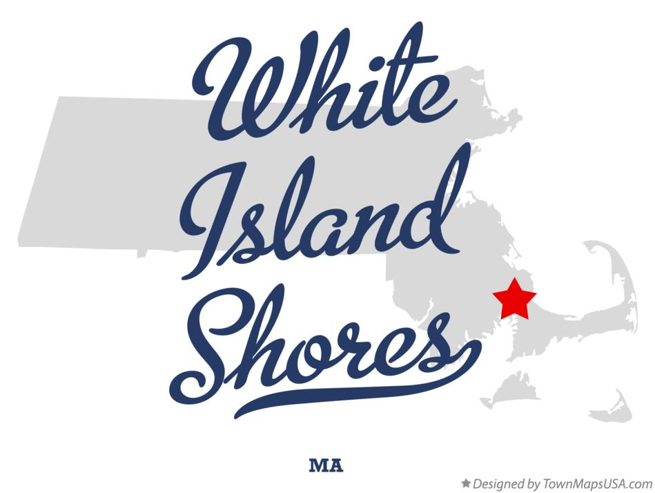 Map of White Island Shores Massachusetts MA