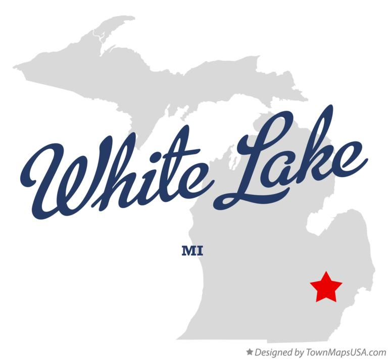 Map of White Lake, MI, Michigan