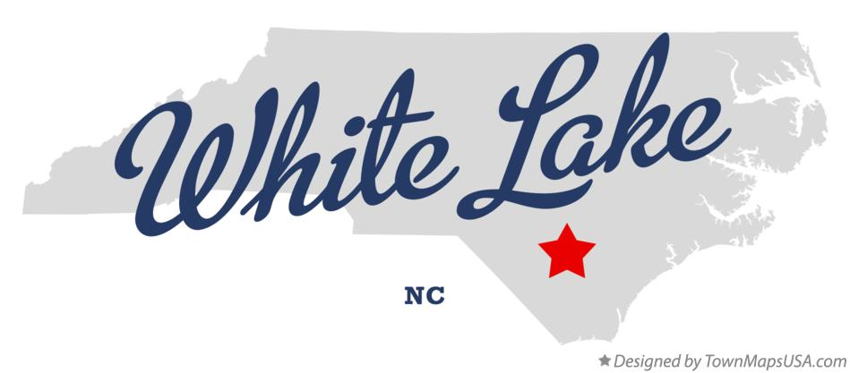 Map of White Lake North Carolina NC