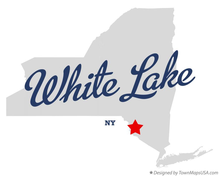 Map of White Lake New York NY
