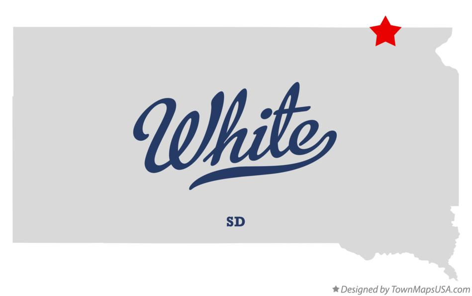 Map of White South Dakota SD