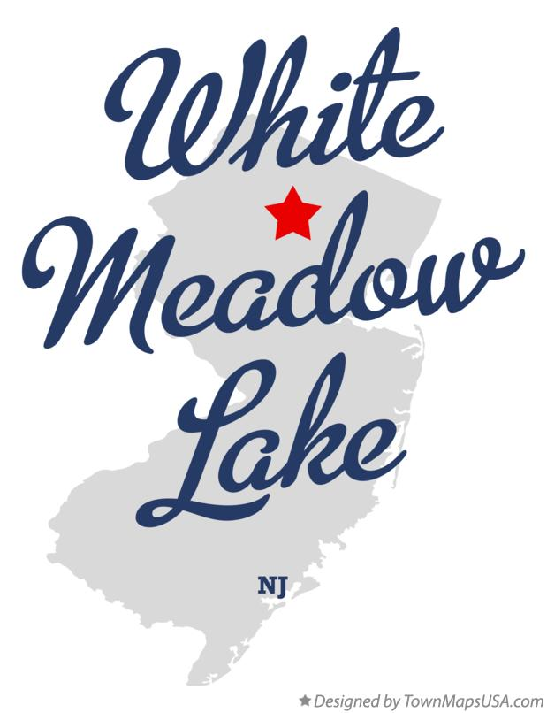 Map of White Meadow Lake New Jersey NJ