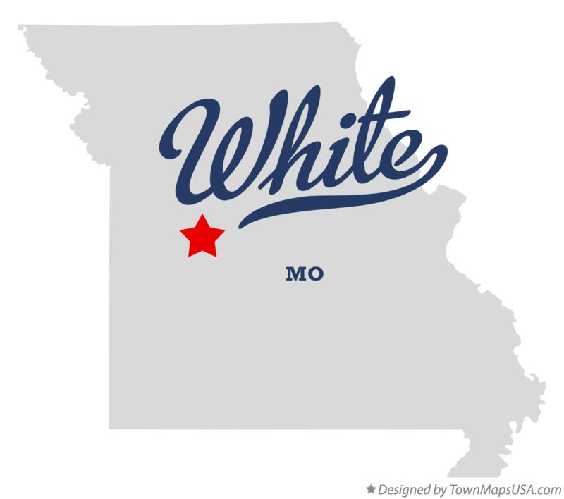 Map of White Missouri MO