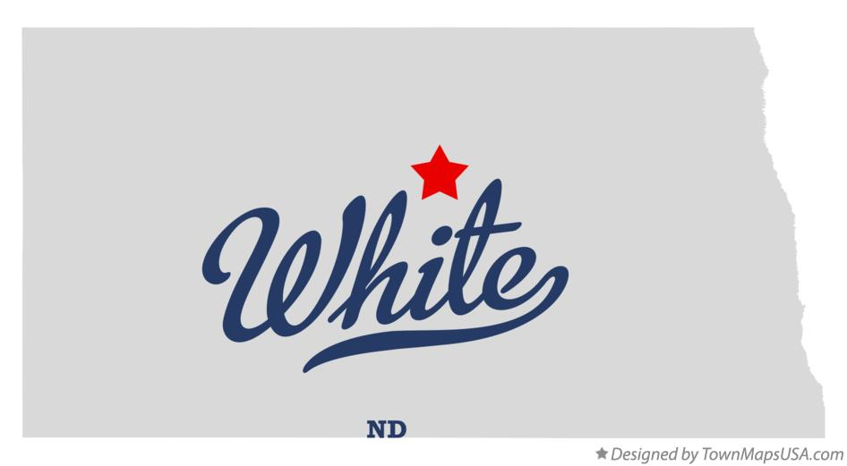 Map of White North Dakota ND