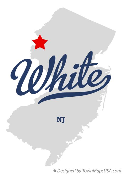 Map of White New Jersey NJ