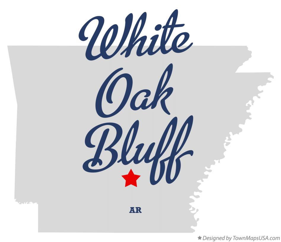 Map of White Oak Bluff Arkansas AR
