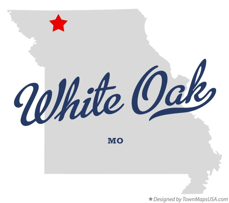 Map of White Oak Missouri MO