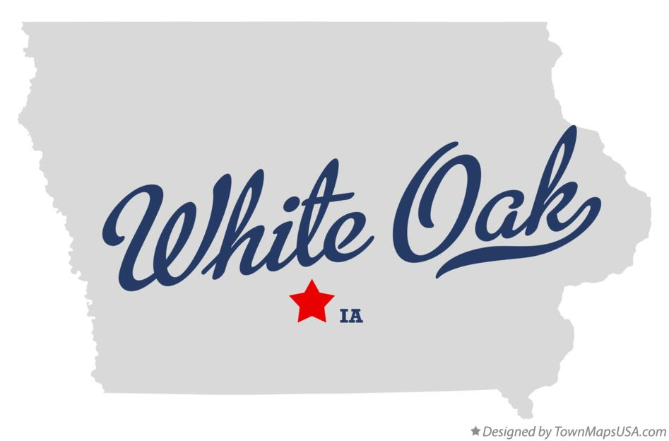 Map of White Oak Iowa IA