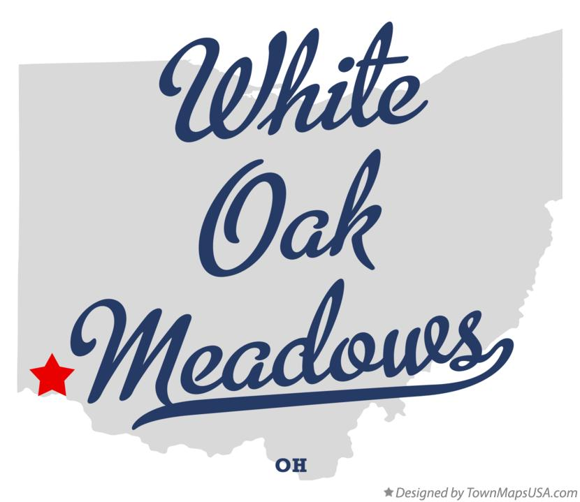 Map of White Oak Meadows Ohio OH