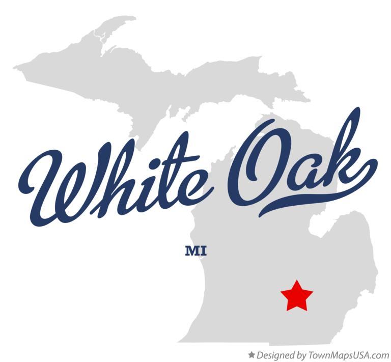 Map of White Oak Michigan MI