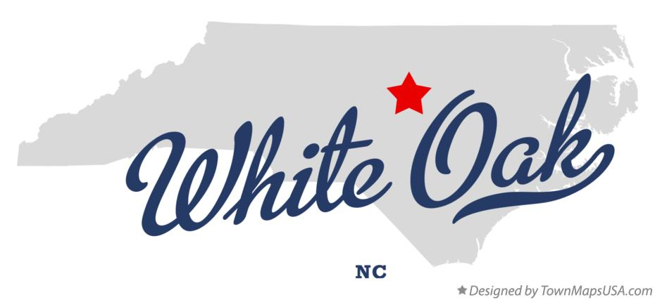 Map of White Oak North Carolina NC